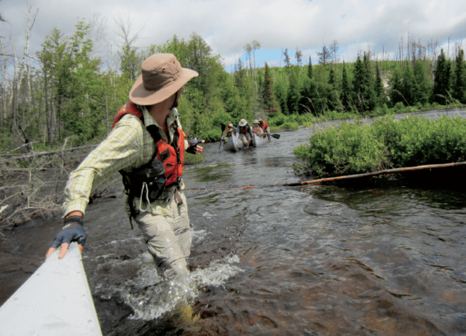 Boy Scout Troops explore the wilds of northern Minnesota and Canada on a trip to the Grand Portage via the Pigeon River. Photo courtesy Northern Tier High Adventure Base.