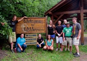 Group and Wilderness Canoe Base sign