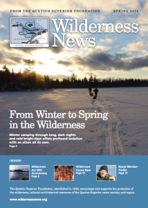 Wilderness News Spring 2014 cover