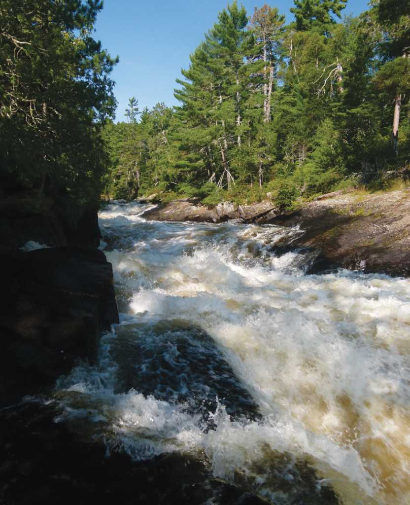Rebecca Falls on the BWCAW-Quetico Park border. Photo by and courtesy of Terry Schocke.