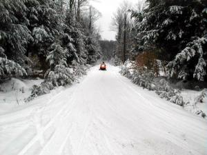 Snowmobiling on Allegheny National Forest in Pennsylvania