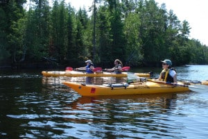 Kayaking on Rainy Lake in Voyageurs National Park