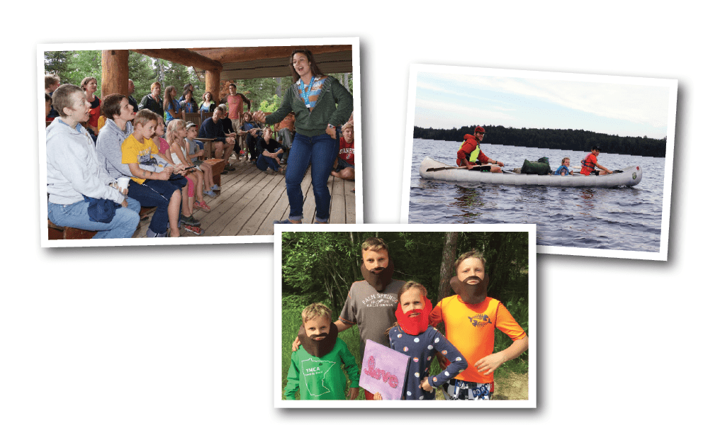 Singalongs, family canoe trips, and creative crafts.