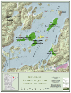 Gaul Island Map created by and provided courtesy of The Trust for Public Land.