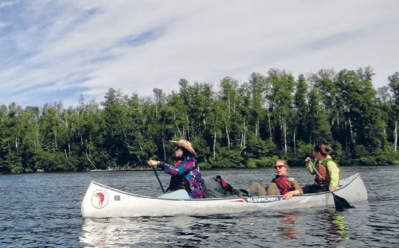 Every girl learns proper paddling strokes and techniques needed for wilderness travel into the BWCAW and Quetico Parks. All photos by and courtesy of Caroline Rose.