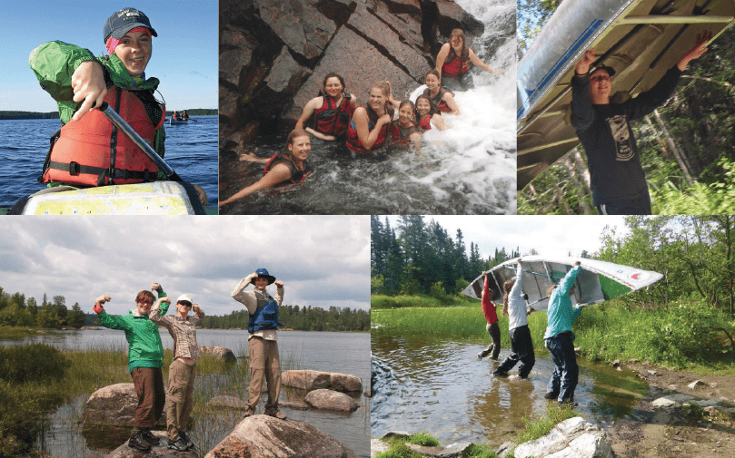 When exploring the wilderness girls discover things they'd never find in the city. Girl Scouts realize their own strengths on canoe trips through Northern Lakes Canoe Base. All photos by and courtesy of Caroline Rose.