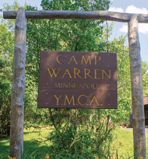 Welcome to Camp Warren. Photos courtesy YMCA Camp Warren.