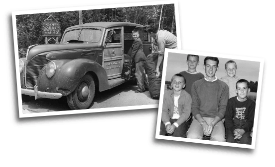 Photos dating back to the 1930s greeted visitors at this summer's 85th Anniversary celebration at Camp Warren. In some families, as many as three generations have gone to camp on Half Moon Lake.