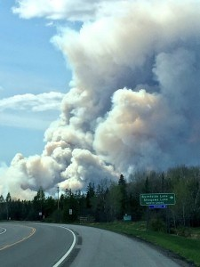 Foss Lake Fire seen from Highway 169 (Photo courtesy April Emery Cornish)
