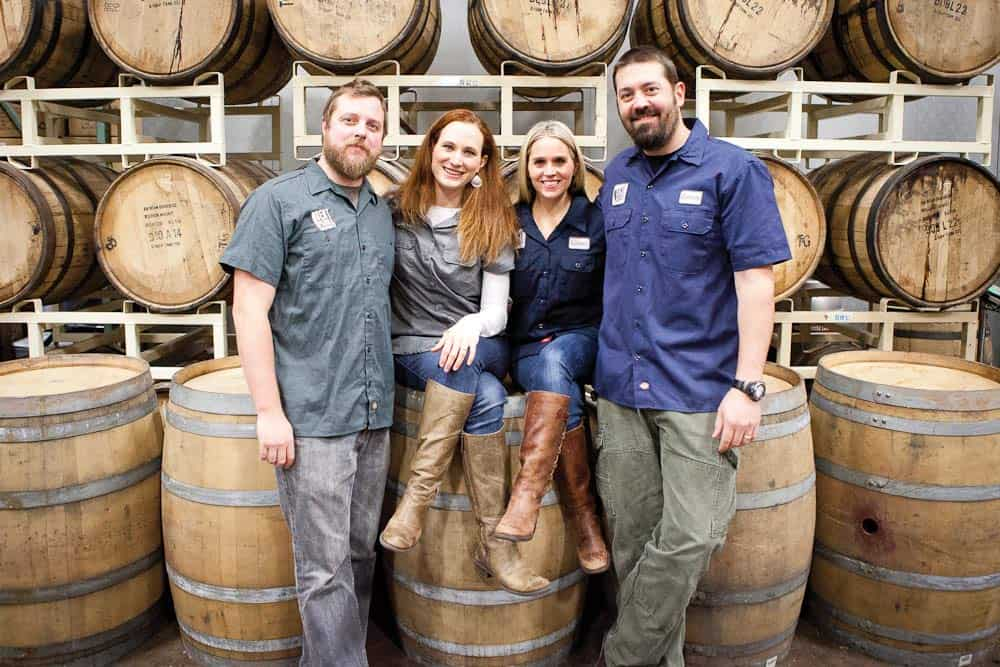 Co-owners Colin and Laura Mullen and Karen and Byron Tonnis. All photos courtesy Bent Paddle Brewing Co.