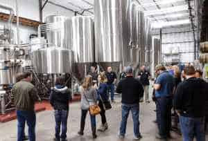 Bent Paddle's downtown Duluth location has a 30-barrel production brewery and a taproom.