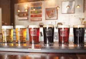 Bent Paddle's flagship beers include the Venter Pils, 14° ESB Extra Special Amber Ale, Bent Hop Golden IPA, and Black Ale.