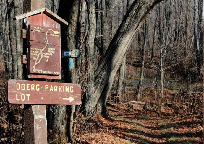 Half the trail's life ago, Backpacker magazine said it had the best signage of any trail in the United States. Photo by Greg Seitz.