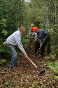 Trail building on the Superior Hiking Trail. (Photo by Mark VanHornweder, courtesy Superior Hiking Trail Association)