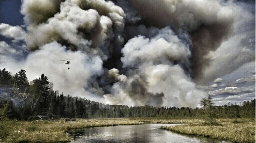 Foss Lake Fire (Photo courtesy Superior National Forest)