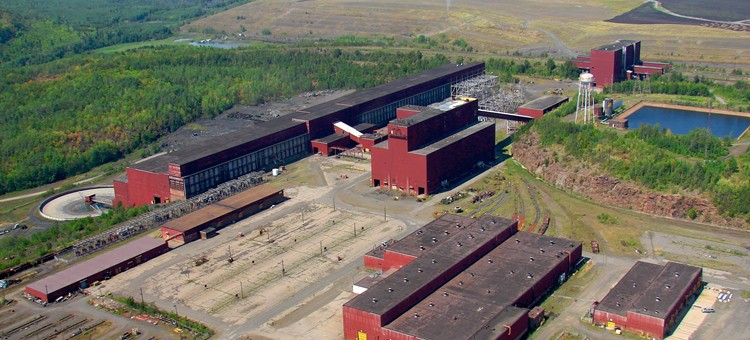 PolyMet's proposed processing facility, the former Erie taconite plant. (MN DNR photo)