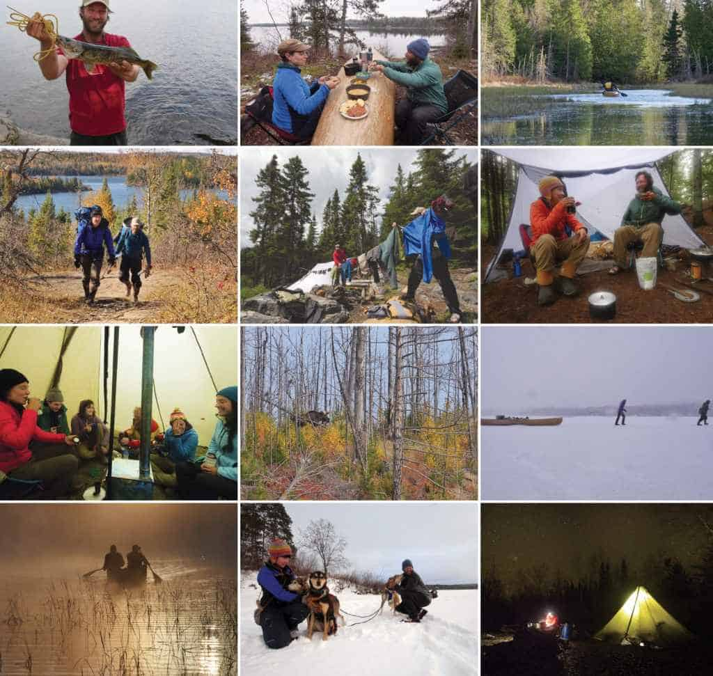 Over the four seasons, the Freemans traveled by ski, toboggan, and canoe, and shared with visitors and their social media followers. This was a special Boundary Waters trip for the Freemans, giving them the time to bear witness to the wilderness and spread the word about its beauty, solitude, and nature—and the risks posed to its waters by mining proposals.