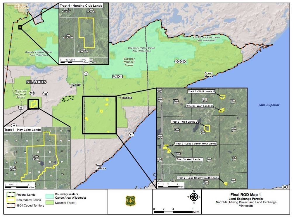 Forest Service Agrees to Trade Land with PolyMet | Quetico Superior ...