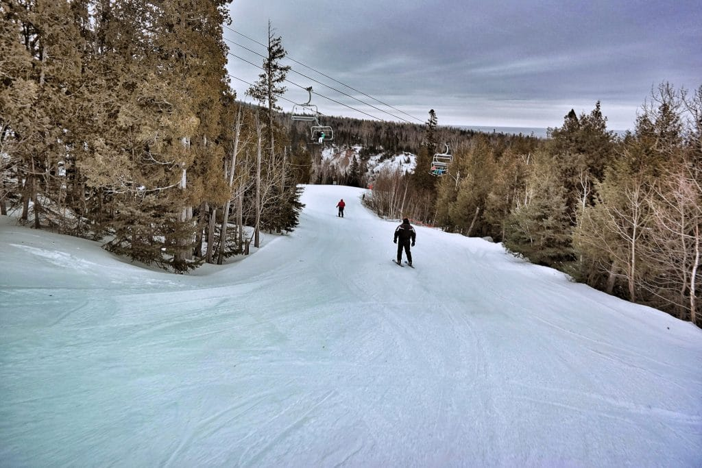 Skiing at Lutsen Mountains (Photo by John Warren)