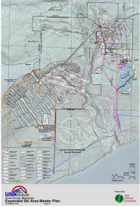Map of proposed expansion. (Courtesy Lutsen Mountains)