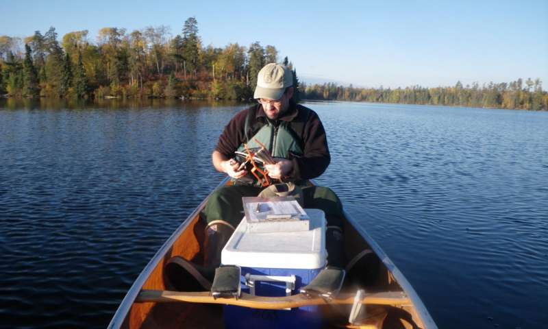 Researching mercury in the Boundary Waters. (Photo courtesy U.S. Forest Service)
