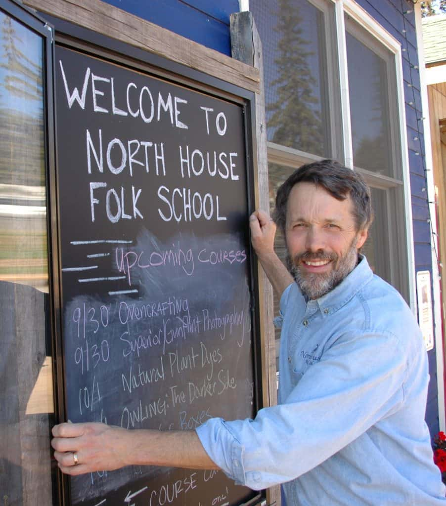 Executive Director Greg Wright at the North House Folk School. Photo courtesy the North House Folk School.