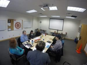 Members of the Heart of the Continent Partnership meet for a roundtable discussion in Duluth this spring. Photo courtesy Heart of the Continent Partnership.