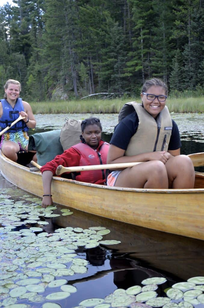 Bold & Gold campers in the Boundary Waters Canoe Area Wilderness. Photo courtesy the YMCA Twin Cities.