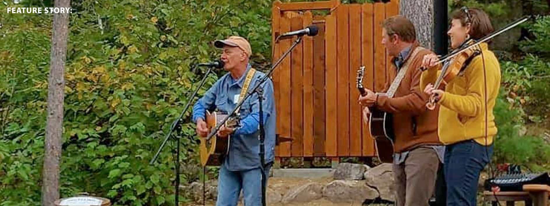 Jerry Vandiver plays on the Gunflint Trail
