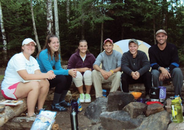 Students from Nebraska Wesleyan University embark on a Boundary Waters expedition and take a test of their creativity while in the wilderness. Photos courtesy Dr. Frank Ferraro.