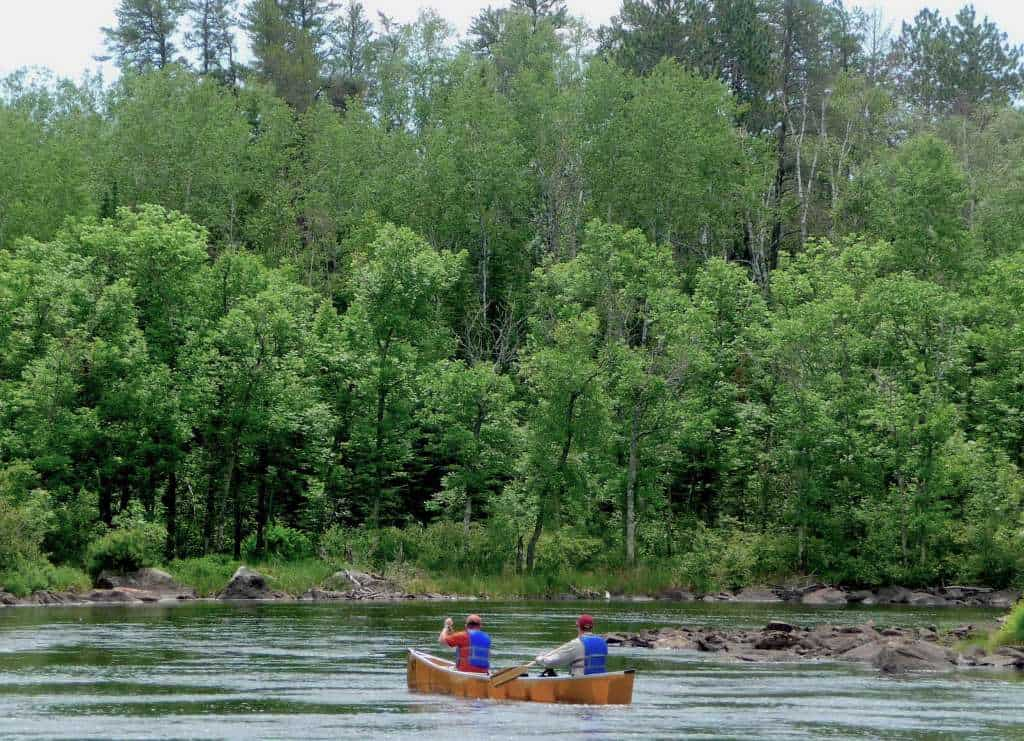 Canoeing the South Kawishiwi River next to the Twin Metals project location. (Photo by Greg Seitz)