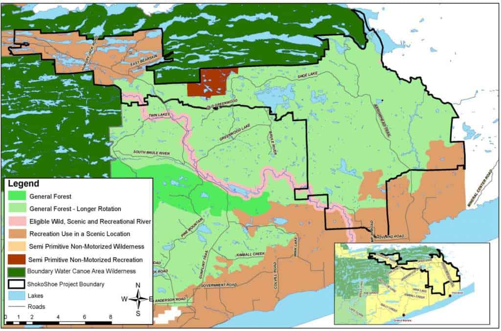 Overview map. Black line represents project boundary. (USFS)