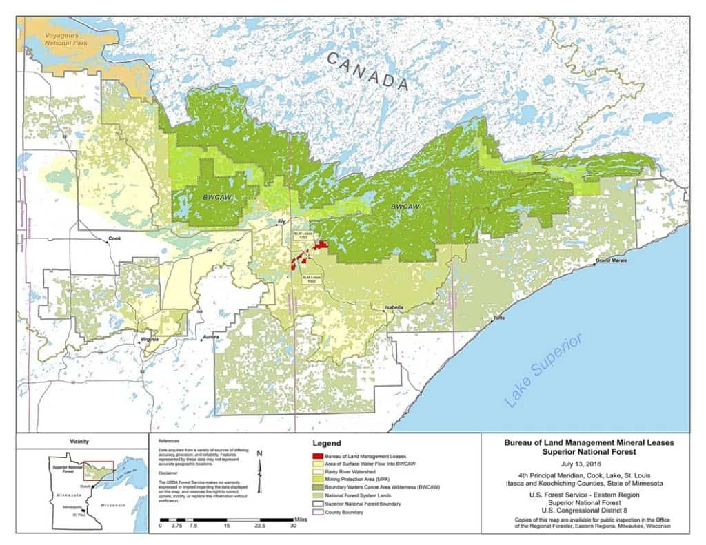 Federal government renews mineral leases near Boundary ...